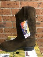 "Durango Men's 11"" Distress Leather Cowboy Boots Size 11 *Brand New* RRP$300"