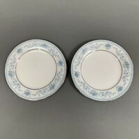 Noritake Blue Hill 2482 Bread & Butter Plates Contemporary Fine China Lot of 2