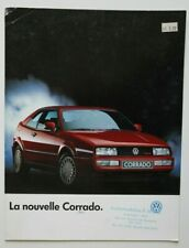 VW VOLKSWAGEN CORRADO 1990 brochure catalog - French - Canadian Market