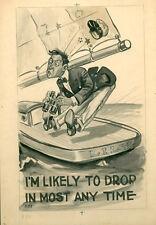 1906 ORIG LG ART TAMMEN POSTCARD ARTWORK POOR MAN IN SAILBOAT COMIC *SALE* AD585