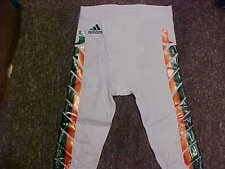 2015 NCAA Miami Hurricanes Game Worn/Used White Adidas Football Pants Size- M
