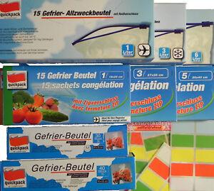 Gefrierbeutel,Tiefkühlbeutel,Reiß-Zip-Schiebverschluß,Etiketten,Kein Vakuum,Tüte