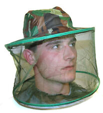 MIDGE MOSQUITO INSECT CAMO fishing camping HAT HEAD NET new net green