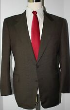 Canali Brown Nailhead Wool Two Button Wool Mens Suit Size 41 S 34 28 Pants