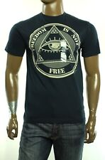 New Mens Ring Of Fire Crew Neck Navy Graphic Tee T Shirt M