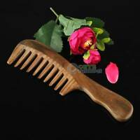Natural Sandalwood Handmade Wide Tooth Comb Hair Care Massage Comb Ship from US