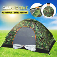 Camping Waterproof Outdoor 2 Person Folding Tent Camouflage Hiking 4 Season US