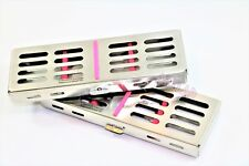 2 Dental Surgical Autoclave Sterilization Cassette Rack Box For 5 Instruments