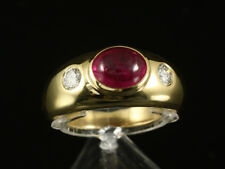 Turmalin Brillant Band Ring ca. 2,70ct 750/- Gelbgold große Ringweite 61