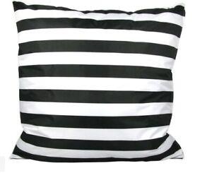 Striped 50 x 50cm Outdoor Cushion - Black & White