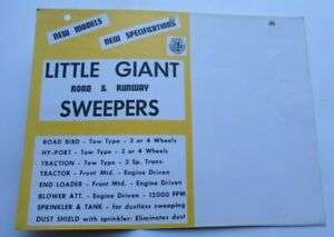 Little Giant road and airport runway sweeper equipment brochure