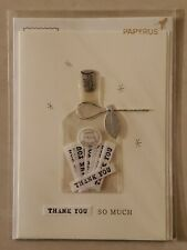 Papyrus Thank You Greeting Card New in Packaging - Thanks Love Bottle France