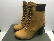 "Timberland Women's 9 Earthkeepers Glancy 6"" Boot Wheat Nubuck"