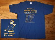 "Vintage 1988 Notre Dame Football ""Behind the Irish"" T-Shirt Men Large, Holtz Era"