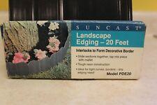 SUNCAST LANDSCAPE EDGING 20 FEET MODEL PDE20 NEW FREE SHIPPING