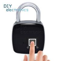 Smart Keyless Door Lock Fingerprint Padlock Biometric Waterproof Electronic US