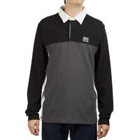 Vans Hi-Point Colorblock Rugby Shirt VN0A49JEKOU Grey Black New W/Tags Men's M