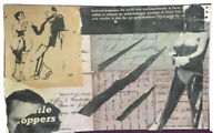 "Mail Art COLLAGE by Steve Camaro - Original Postcard Art ""WHISTLE STOPPERS"""