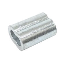 """100ea Aluminum Sleeves for Wire Rope 1/16"""""""