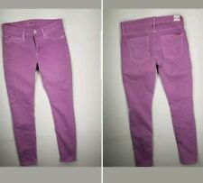 HUDSON Jeans Nico Midrise Super Skinny Jean Light Purple Sz 25 Womens