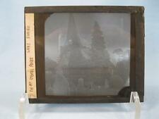 Magic Lantern Glass Slide Big Ben & Church Cathedral England Westminster (O)