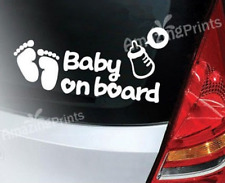 Baby On Board Sticker Sign Safety Vinyl Car Decal Boy Girl present shower Funny
