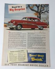 Original Print Ad 1951 BUICK 2 Door Dynaflow Winter Artwork Big Surprise Sized