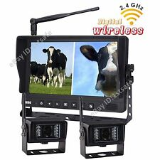 """9"""" Wireless Agriculture Backup Camera System 2 RV Cameras"""