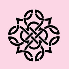 """4.5"""" CELTIC KNOT STENCIL TEMPLATE PATTERN CRAFT ART PAINT #2 NEW BY STENSOURCE"""