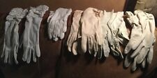 Lot Of 5 Ivory  Gloves 50's Long One Kid  Leather Movies Stage Props Elegant