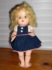 """Unmarked ~ Vintage 1950s HP 12"""" Ginger Type Walker Doll"""