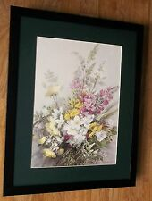 Vernon Ward - botanical poster, 20''x16'' frame, Hedgerow in June, 1977 print