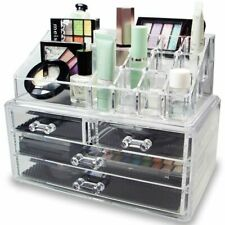 Acrylic Jewelry Cosmetic Storage 4 Drawers Display Makeup Organizer Boxes Case