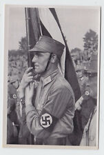 PROPAGANDE PHOTO ALLEMANDE WW2 --- SA AVEC DRAPEAU