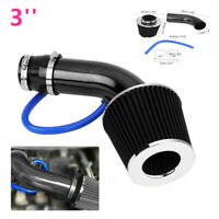 3In Universal Car Cold Air Intake Filter Alumimum Induction Kit Pipe Hose System