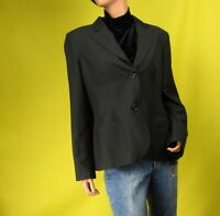 Style & Co. Womens Black Pinstripe Blazer Suit Jacket Size 14