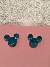 Disney Mickey Blue silicone post earrings