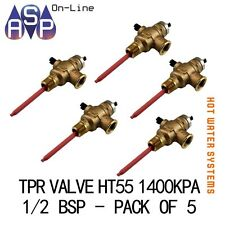 "TPR VALVE HT55 - 1400KPA -1/2"" BSP - SUITS ALL MAJOR BRANDS - PACK OF 5"