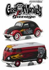 1:64 GreenLight *VOLKSWAGEN* GAS MONKEY GARAGE Beetle & Panel Van *M&J TOYS* NIP