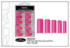Royal 100 Pre-Coloured Nail Tips Pink
