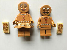 New Lego Gingerbread Man, Woman & Baby 10267 Gingerbread House minifigures