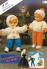 VAT Free KNITTING PATTERNS ONLY Teddy Book Dressing Up for Dolls DK & 4Ply 587