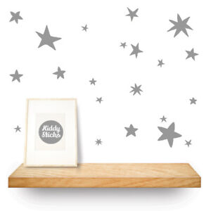 Star Wall Stickers / Decals  Hand drawn pattern   15 colours UK based