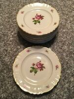 "Set of 12 PLATES, 8"" Syracuse China Victoria Rose Federal Shape"