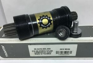 "Truvativ Bottom Bracket BB 113mm x 68mm Power Spline 1.37""x24T Alloy Cup NEW"