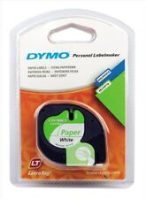Dymo (12mm) Paper Tape (Black on White) for Dymo LetraTAG Series