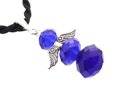 Siberian Blue Crystal Guardian Angel of Light Pendant
