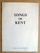SONGS OF KENT 1965 Kent Life/Messenger David Fanshawe Garden of England Salute