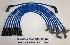 GMC VORTEC 1996-2000 SUBURBAN, YUKON, DENALI  5.7L 350 BLUE Spark Plug wires USA