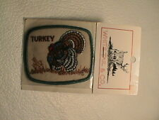 WILD TOM TURKEY IN STRUT BOW CALL GUN HUNTING PATCH NEW ON ORIGINAL CARD